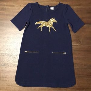 Gymboree Glitter Horse Dress. Girls Size 8